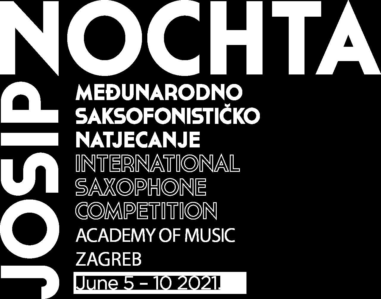 Josip Nochta međunarodno saksofonističko natjecanje logo